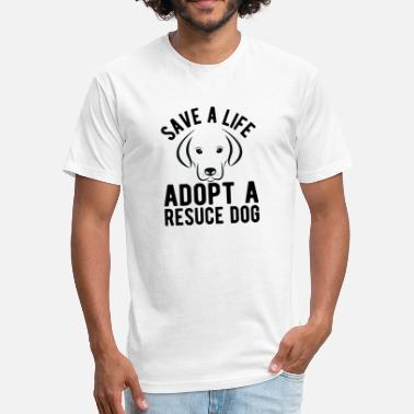 Dog Rescue Adopt A Rescue Dog - Fitted Cotton/Poly T-Shirt by Next Level