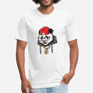 Panda Hip Hop Cool Panda, Hip Hop, Panda Swag - Fitted Cotton/Poly T-Shirt by Next Level