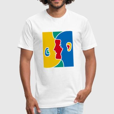 City And Colour shadow colour - Fitted Cotton/Poly T-Shirt by Next Level