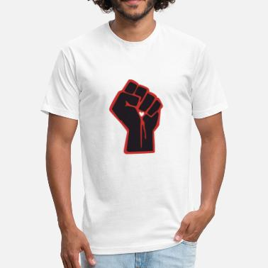Black-power Black Power - Fitted Cotton/Poly T-Shirt by Next Level