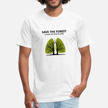 Greenpeace SAVE THE FOREST - Fitted Cotton/Poly T-Shirt by Next Level