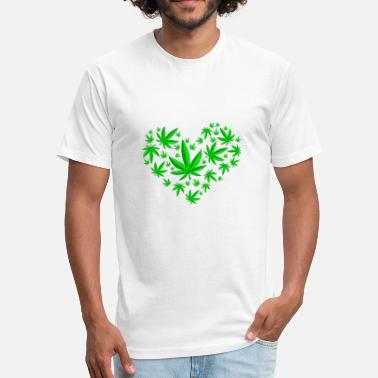 Cannabis-heart Cannabis Heart - Fitted Cotton/Poly T-Shirt by Next Level