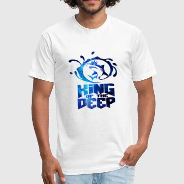 Shark King King Of The Deep - Shark - Total Basics - Fitted Cotton/Poly T-Shirt by Next Level