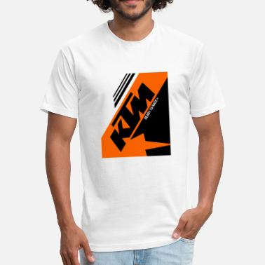 Ktm Bike Ktm - Fitted Cotton/Poly T-Shirt by Next Level