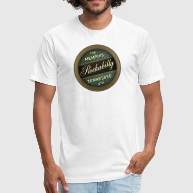Rockabilly Music The Memphis Rockabilly Music Tennessee - Fitted Cotton/Poly T-Shirt by Next Level