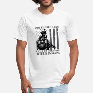 Marine Corps Kids Veterans T Shirts - Patriotic Patriotism Patriots - Fitted Cotton/Poly T-Shirt by Next Level