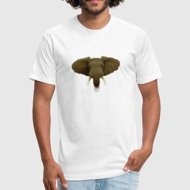 Pixel Elephant - Fitted Cotton/Poly T-Shirt by Next Level