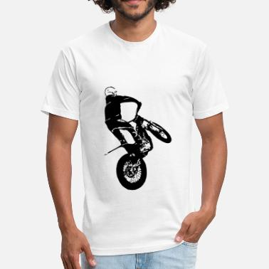 Trials Motorcycle Trial - Fitted Cotton/Poly T-Shirt by Next Level