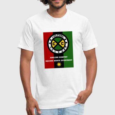 Cultural Diversity Culture Colours. Abolish Bigotry. Racism hurts - Fitted Cotton/Poly T-Shirt by Next Level
