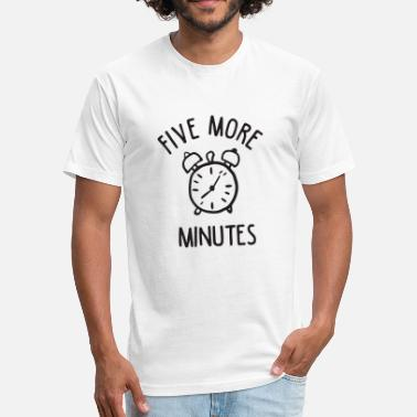 Snooze Clock Five Minutes Snooze - Fitted Cotton/Poly T-Shirt by Next Level