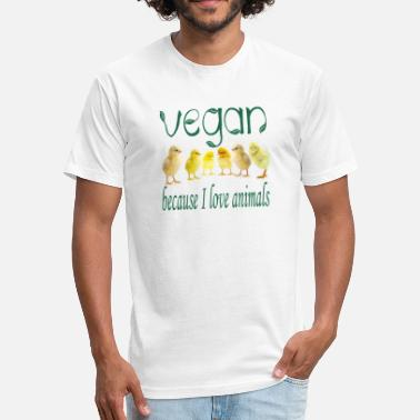 Womens Vegan Vegan - Fitted Cotton/Poly T-Shirt by Next Level
