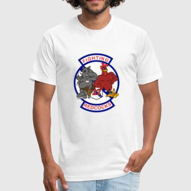 F/A-18 Rhino VFA-22 Fighting Redcocks - Fitted Cotton/Poly T-Shirt by Next Level