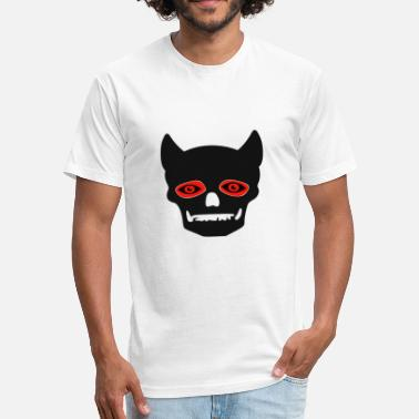 Devil Male devil - Fitted Cotton/Poly T-Shirt by Next Level