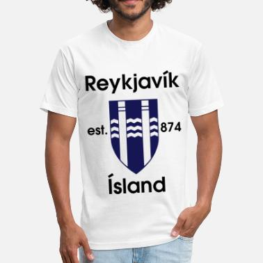 Reykjavik Reykjavik Design - Fitted Cotton/Poly T-Shirt by Next Level