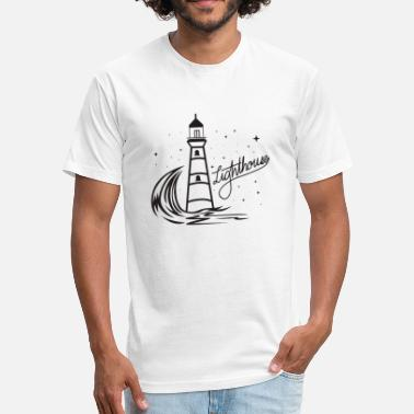 North Sea Lighthouse Coast North Sea Holiday Gift - Fitted Cotton/Poly T-Shirt by Next Level