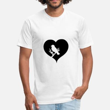Rare Bird Heart Bird Gift Idea Birding - Fitted Cotton/Poly T-Shirt by Next Level