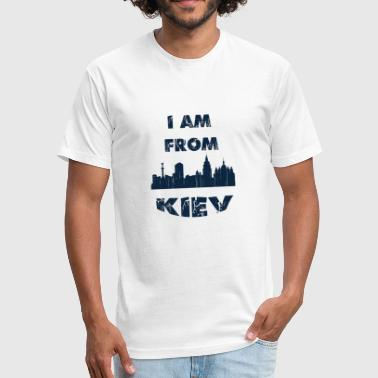 I Love Kiev KIEV I am from - Fitted Cotton/Poly T-Shirt by Next Level