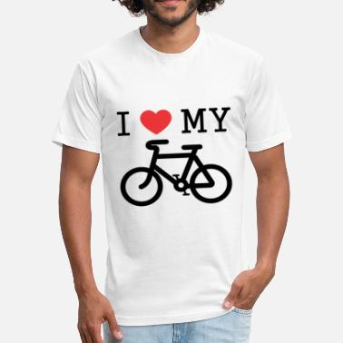 I Love My Bike I Love My Bike - Fitted Cotton/Poly T-Shirt by Next Level
