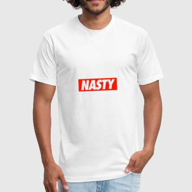 NASTY - Fitted Cotton/Poly T-Shirt by Next Level