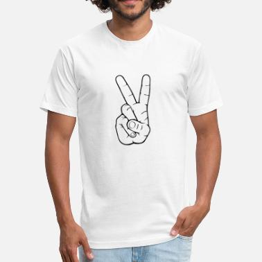 Victory Sign Victory Sign - Fitted Cotton/Poly T-Shirt by Next Level