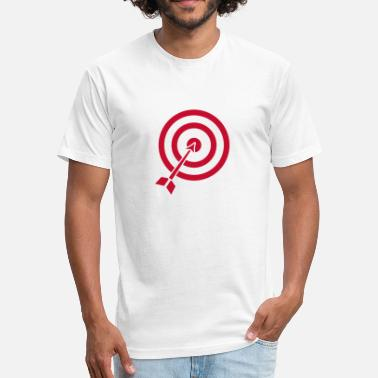 Target Archery Archery Target funny tshirt - Fitted Cotton/Poly T-Shirt by Next Level