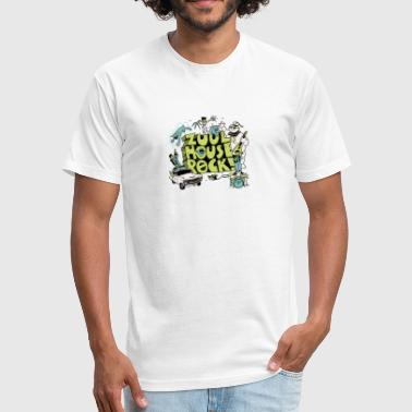Zuul Zuul House Rock - Fitted Cotton/Poly T-Shirt by Next Level