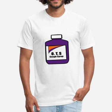 Cough OTS Cough Syrup - Fitted Cotton/Poly T-Shirt by Next Level