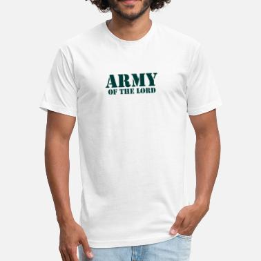 Christian Animal Army of the lord christian - Fitted Cotton/Poly T-Shirt by Next Level