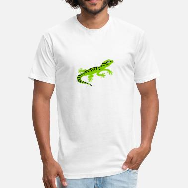 Gecko Gecko - Fitted Cotton/Poly T-Shirt by Next Level