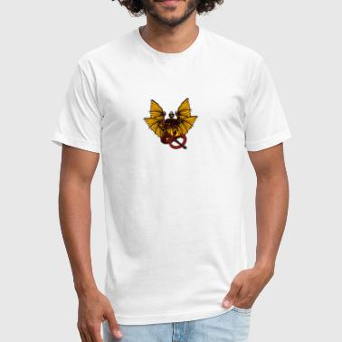 Lucifer - Fitted Cotton/Poly T-Shirt by Next Level