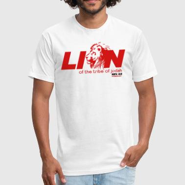 Lion of the Tribe of Judah - Fitted Cotton/Poly T-Shirt by Next Level
