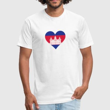 A Heart For Cambodia - Fitted Cotton/Poly T-Shirt by Next Level