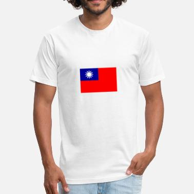 Hakka National Flag Of Taiwan - Fitted Cotton/Poly T-Shirt by Next Level