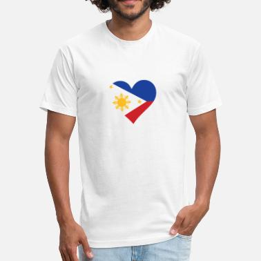 Cebu A Heart For The Philippines - Fitted Cotton/Poly T-Shirt by Next Level