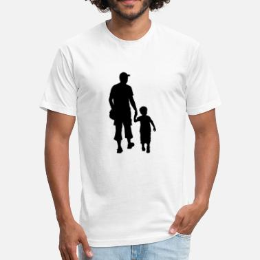 Baby Father And Son son and father silhouettes - Fitted Cotton/Poly T-Shirt by Next Level