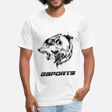 Dota2 esports wolf nerd computer game battle CS liquid - Fitted Cotton/Poly T-Shirt by Next Level