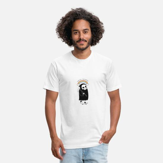 Grin T-Shirts - Grin Reaper - Unisex Poly Cotton T-Shirt white