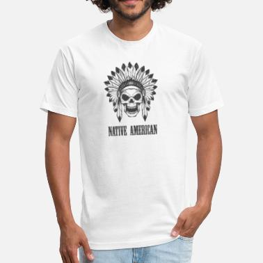 Mens Native American native american - Fitted Cotton/Poly T-Shirt by Next Level