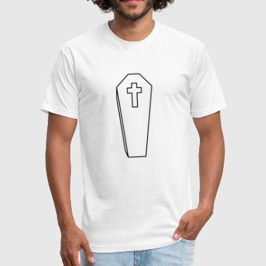 coffin burial cross grave cemetery dead gravestone - Fitted Cotton/Poly T-Shirt by Next Level
