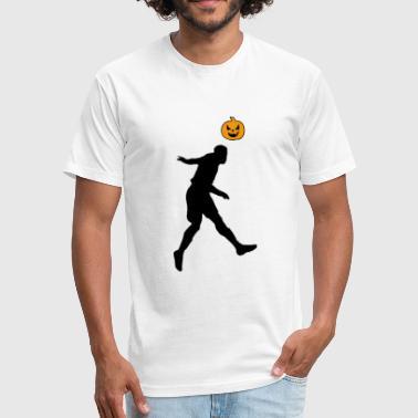 Halloween Soccer Player Header - Fitted Cotton/Poly T-Shirt by Next Level