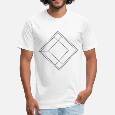 Square Shape Square symbol shapes gift idea simple hipster line - Fitted Cotton/Poly T-Shirt by Next Level