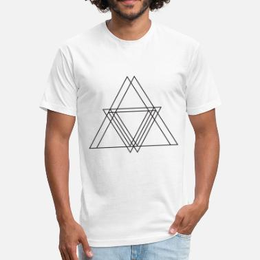 Symbols&shapes Triangle symbols shapes gift - Fitted Cotton/Poly T-Shirt by Next Level
