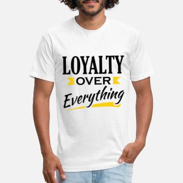 Loyalty Over Money Loyalty Over Everything - Unisex Poly Cotton T-Shirt