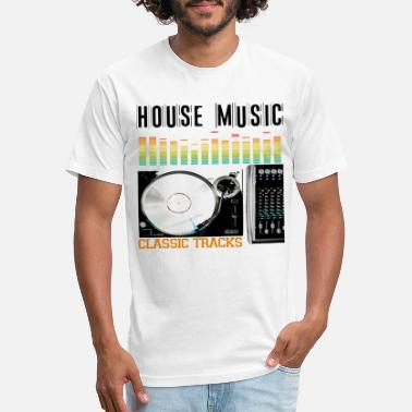 Classic House HOUSE MUSIC CLASSIC TRACKS - Unisex Poly Cotton T-Shirt