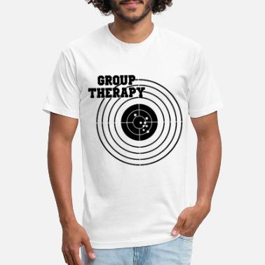 Therapy Group Therapy Mens Amendment Gun Target Shooting P - Unisex Poly Cotton T-Shirt