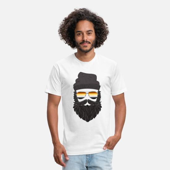 98477196 Gay T-Shirts - LGBT Hipster Daddy Bear Gay Pride - Unisex Poly Cotton T