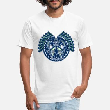 Seahawks Hawk Totem - Unisex Poly Cotton T-Shirt 0429af7a9