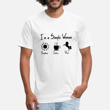 I'm a simple woman. A gift item. - Unisex Poly Cotton T-Shirt
