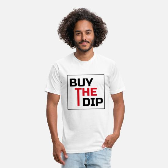 Market T-Shirts - Crypto trading buy the dip - Unisex Poly Cotton T-Shirt white