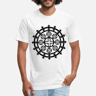 Ethiopia Coptic cross Eritrea Ethiopia God 1c Christ - Unisex Poly Cotton T-Shirt
